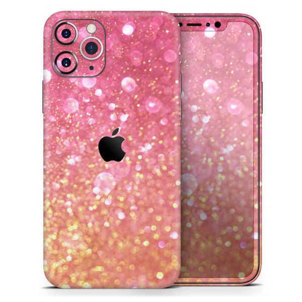 Glowing Pink and Gold Orbs of Light - Skin-Kit for the Apple iPhone 11, 11 Pro or 11 Pro Max
