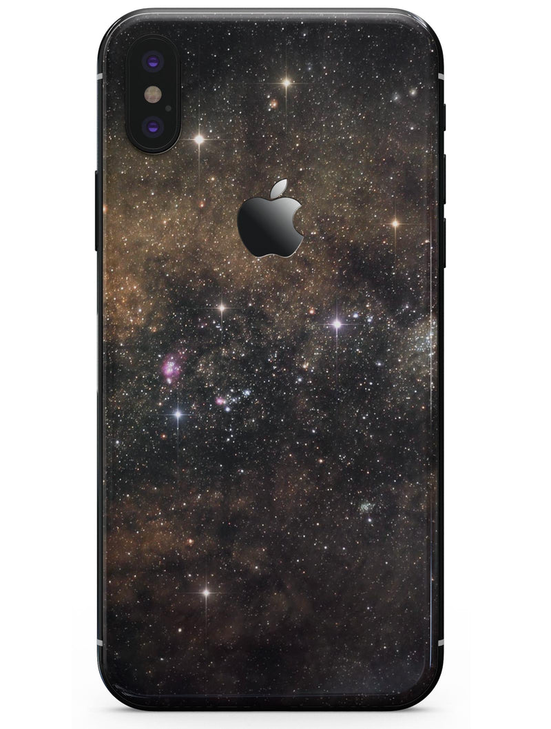 Gold Aura Space - iPhone X Skin-Kit