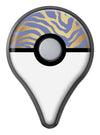 Gold Flaked Animal Blue Zebra Pokémon GO Plus Vinyl Protective Decal Skin Kit