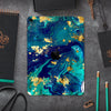 "Gold Flaked Teal Oil - Full Body Skin Decal for the Apple iPad Pro 12.9"", 11"", 10.5"", 9.7"", Air or Mini (All Models Available)"