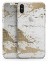 Gold Foiled Marble v1 - iPhone X Skin-Kit