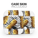 Gold Pineapple Express - Full Body Skin Decal Wrap Kit for the Wireless Bluetooth Apple Airpods Pro, AirPods Gen 1 or Gen 2 with Wireless Charging