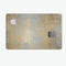 Gold Scratched Foil v1 - Premium Protective Decal Skin-Kit for the Apple Credit Card