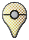 Gold and White Plaid Picnic Table Pattern Pokémon GO Plus Vinyl Protective Decal Skin Kit
