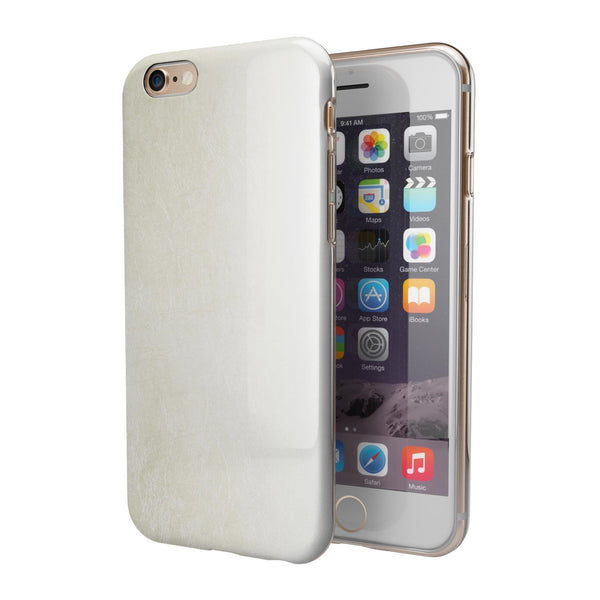 Golden Fade to White  iPhone 6/6s or 6/6s Plus 2-Piece Hybrid INK-Fuzed Case