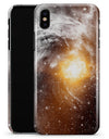 Golden Space Swirl - iPhone X Clipit Case