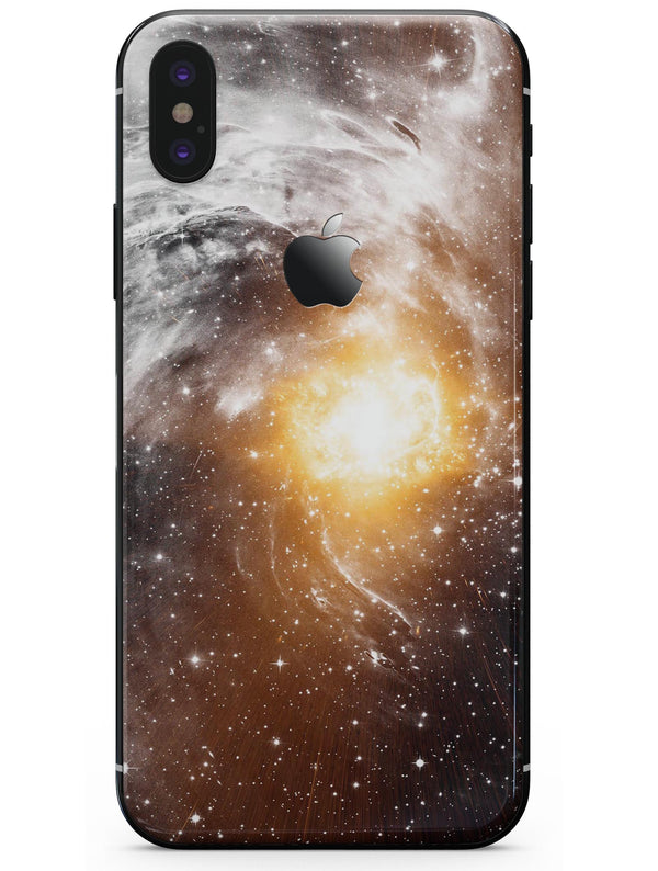 Golden Space Swirl - iPhone X Skin-Kit