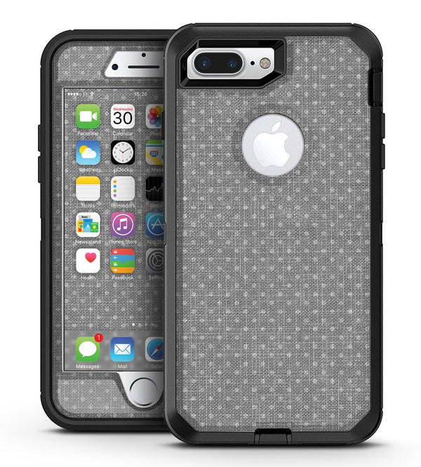 Gray Micro Dot Over Scratched Fabric - iPhone 7 Plus/8 Plus OtterBox Case & Skin Kits