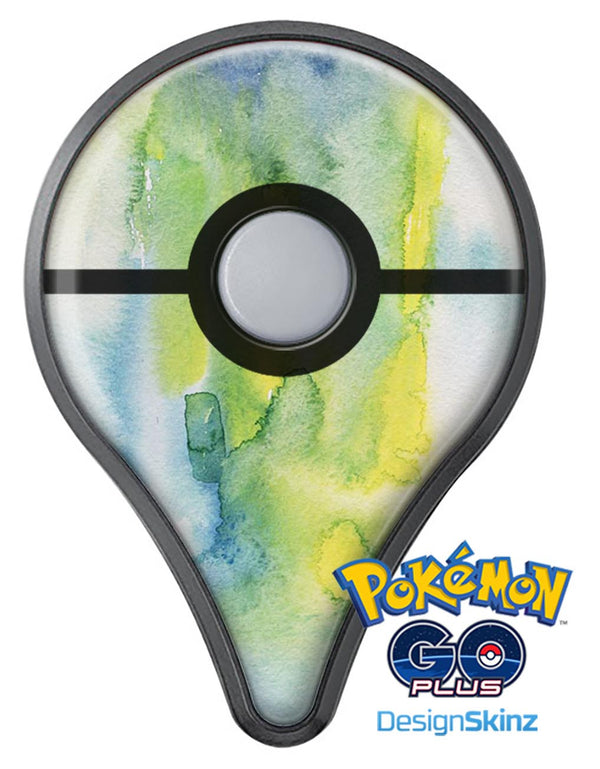 Green 211 Absorbed Watercolor Texture Pokémon GO Plus Vinyl Protective Decal Skin Kit