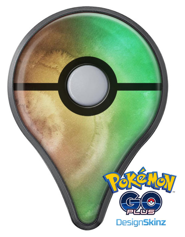 Green 8643 Absorbed Watercolor Texture Pokémon GO Plus Vinyl Protective Decal Skin Kit