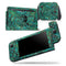 Green Damask Watercolor Pattern - Skin Wrap Decal for Nintendo Switch Lite Console & Dock - 3DS XL - 2DS - Pro - DSi - Wii - Joy-Con Gaming Controller