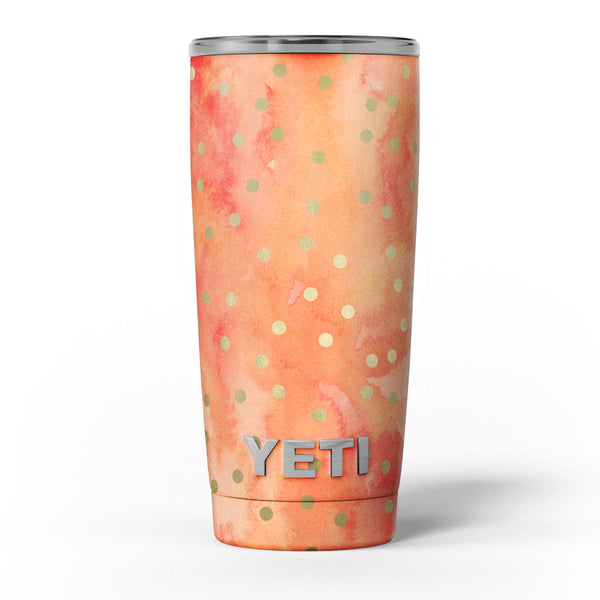 Green_Polka_Dots_Over_Water_Colored_Fire_-_Yeti_Rambler_Skin_Kit_-_20oz_-_V5.jpg