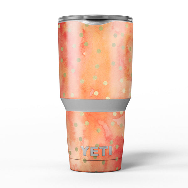 Green_Polka_Dots_Over_Water_Colored_Fire_-_Yeti_Rambler_Skin_Kit_-_30oz_-_V5.jpg