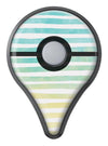 Green WaterColor Ombre Stripes Pokémon GO Plus Vinyl Protective Decal Skin Kit