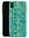 Green Watercolor Woodgrain - iPhone X Clipit Case