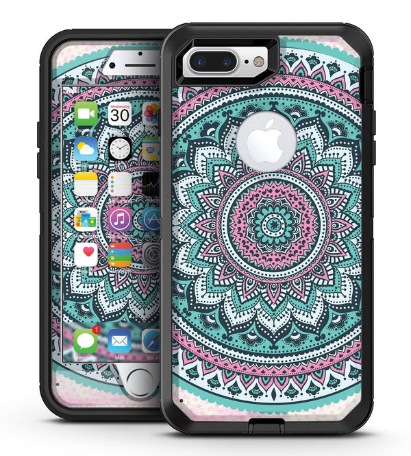 Green and Pink Circle Mandala v9 - iPhone 7 Plus/8 Plus OtterBox Case & Skin Kits