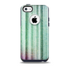 Green and Purple Dyed Textile Skin for the iPhone 5c OtterBox Commuter Case