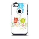 Green and Red Merry Christmas Skin for the iPhone 5c OtterBox Commuter Case