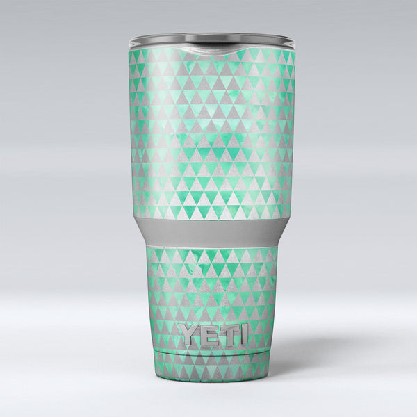 Green_and_Silver_Watercolor_Triangle_Pattern_-_Yeti_Rambler_Skin_Kit_-_30oz_-_V1.jpg