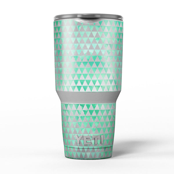 Green_and_Silver_Watercolor_Triangle_Pattern_-_Yeti_Rambler_Skin_Kit_-_30oz_-_V5.jpg