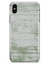 Green and White Chipped Woodgrain - iPhone X Clipit Case