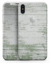 Green and White Chipped Woodgrain - iPhone X Skin-Kit