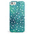 Green and White Watercolor Polka Dots iPhone 5/5s or SE INK-Fuzed Case
