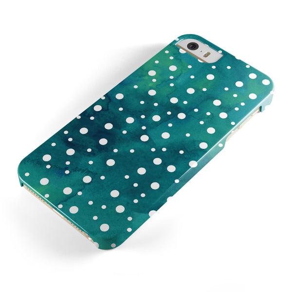 Green_and_White_Watercolor_Polka_Dots_-_iPhone_5s_-_Gold_-_One_Piece_Glossy_-_V1.jpg