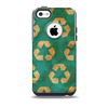 Green and Yellow RECYCLE Pattern V2 Skin for the iPhone 5c OtterBox Commuter Case
