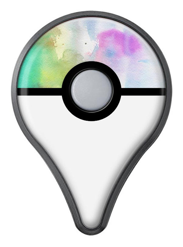 Green to Pink Absorbed Watercolor Texture Pokémon GO Plus Vinyl Protective Decal Skin Kit