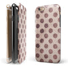 Grunge Brown and Tan Polkadot Pattern iPhone 6/6s or 6/6s Plus 2-Piece Hybrid INK-Fuzed Case