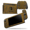 Grunge Dark Golden Stripes - Skin Wrap Decal for Nintendo Switch Lite Console & Dock - 3DS XL - 2DS - Pro - DSi - Wii - Joy-Con Gaming Controller
