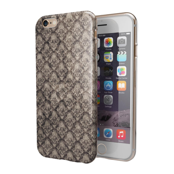 Grunge Decayed Damask Pattern iPhone 6/6s or 6/6s Plus 2-Piece Hybrid INK-Fuzed Case