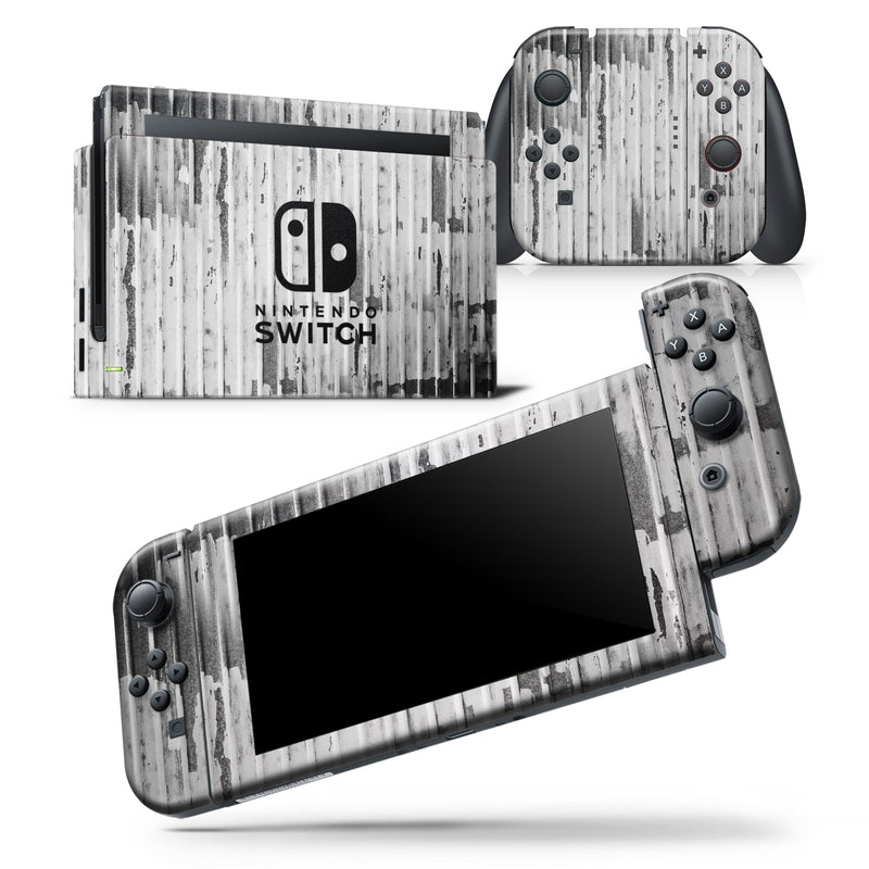 Grunge Metal Panel V1 - Skin Wrap Decal for Nintendo Switch Lite Console & Dock - 3DS XL - 2DS - Pro - DSi - Wii - Joy-Con Gaming Controller