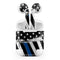 Grunge Patriotic American Flag with Thin Blue Line - Full Body Skin Decal Wrap Kit for the Wireless Bluetooth Apple Airpods Pro, AirPods Gen 1 or Gen 2 with Wireless Charging