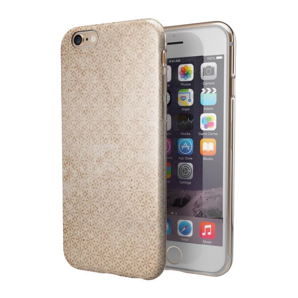 Grunge and Scratched All Over Ship Wheel iPhone 6/6s or 6/6s Plus 2-Piece Hybrid INK-Fuzed Case