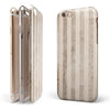 Grungy Brown Vertical Stripes iPhone 6/6s or 6/6s Plus 2-Piece Hybrid INK-Fuzed Case
