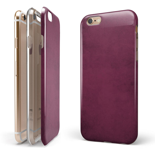 Grungy Burgundy  iPhone 6/6s or 6/6s Plus 2-Piece Hybrid INK-Fuzed Case