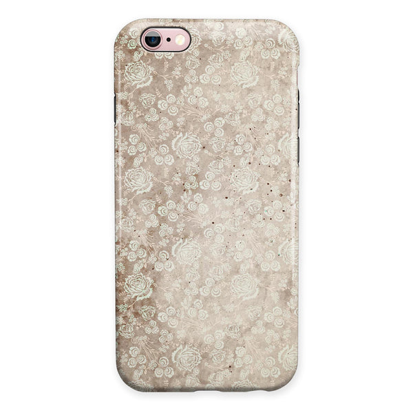 Grungy Faded Floral Pattern  iPhone 6/6s or 6/6s Plus 2-Piece Hybrid INK-Fuzed Case