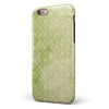 Grungy Green Faded Damask Pattern  iPhone 6/6s or 6/6s Plus 2-Piece Hybrid INK-Fuzed Case