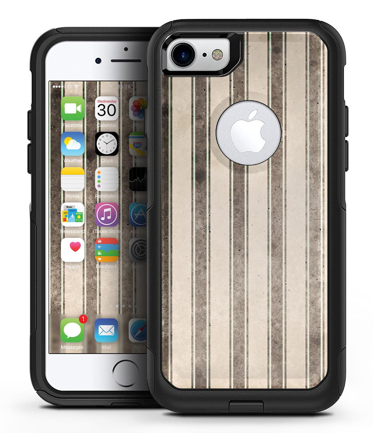 Grungy Motel Wallpaper - iPhone 7 or 7 Plus Commuter Case Skin Kit