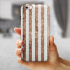 Grungy Mud Puddle Veritcal Stripes iPhone 6/6s or 6/6s Plus 2-Piece Hybrid INK-Fuzed Case
