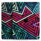"Grungy Neon Triangular Zig Zag Shapes - Full Body Skin Decal for the Apple iPad Pro 12.9"", 11"", 10.5"", 9.7"", Air or Mini (All Models Available)"