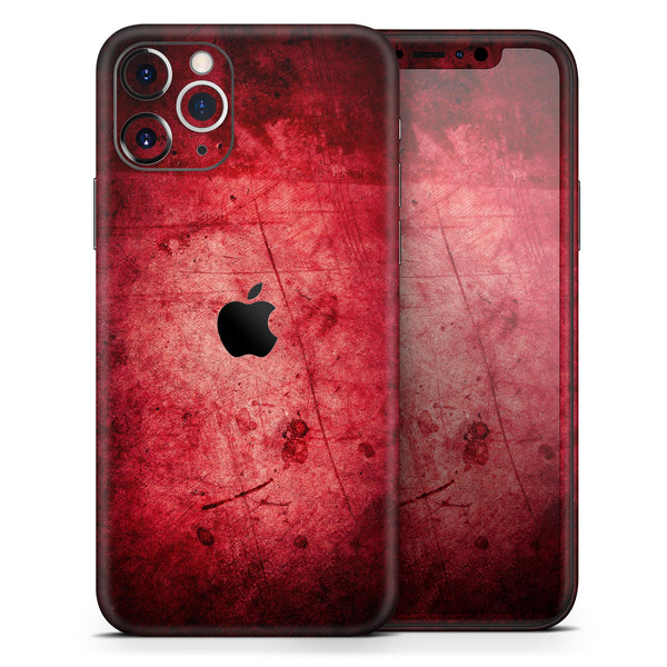 Grungy Red Scratched Surface - Skin-Kit for the Apple iPhone 11, 11 Pro or 11 Pro Max