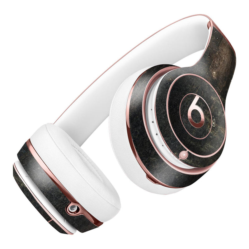 Grungy Scratched Woodgrain Surface Full-Body Skin Kit for the Beats by Dre Solo 3 Wireless Headphones