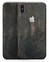 Grungy Scratched Woodgrain Surface - iPhone X Skin-Kit