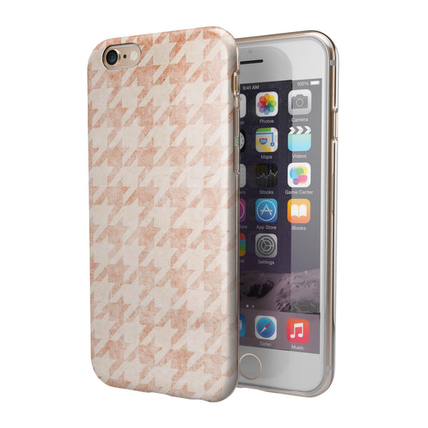 Grungy Tangerine Dream Pattern iPhone 6/6s or 6/6s Plus 2-Piece Hybrid INK-Fuzed Case