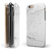 Grungy White Marble  iPhone 6/6s or 6/6s Plus 2-Piece Hybrid INK-Fuzed Case
