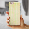Grungy Yellow Faded Vertical Stripes iPhone 6/6s or 6/6s Plus 2-Piece Hybrid INK-Fuzed Case