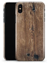 Horizontal Weathered Woodgrain - iPhone X Clipit Case